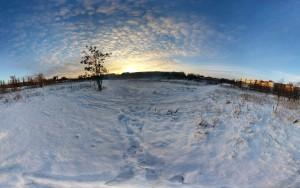 Winterliche Aufnahme von der Mitte in Richtung Westen.